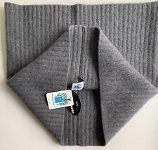 NWT PORTOLANO 100% Cashmere GREY Ribbed Hoodscarf Infinity Scarf Unisex
