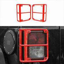 Rear Tail Light Guards Lamp Cover Trim For Jeep Wrangler Jk 2007 2017 Red 2pcs M Fits Jeep