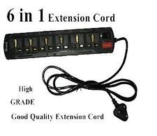 Branded 6 in 1 Power Extension Cord With 6 Socket Spike & Transient Suppressor