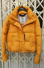 HOLLISTER PUFFA BOMBER JACKET COAT MUSTARD SIZE S 10 EXCELLENT PUFFER RARE