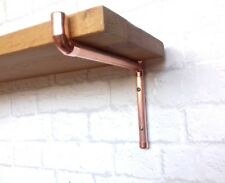 COPPER SHELF BRACKET / SUPPORT (CLOSED END) - HANDMADE WITH REAL COPPER