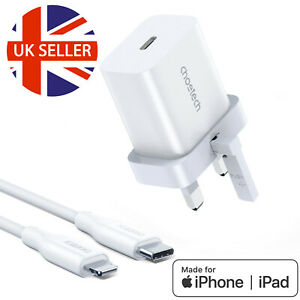 USB-C Fast Charging 20W PD Charger Cable Plug 4 iPhone 13 12 11 XS X Pro XR MAX