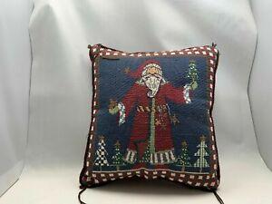 "Santa Claus 9"" X 8"" Christmas Pillow"