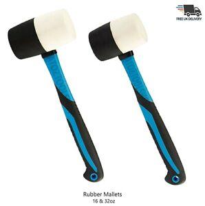 Rubber Hammer Mallet 16oz Or 32oz Combination Mallet Fibreglass Shaft DIY Choose