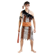 Men's Leopard Savage Dress Up Costume Cosplay Halloween Party Outfit