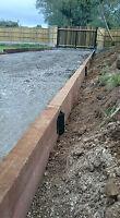Timber Railway Sleeper Driveway Path Straight Edge Edging Bracket Heavy Duty