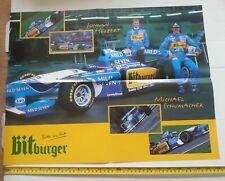 MICHAEL SCHUMACHER JOHNNY HERBERT BENETTON Bitburger POSTER F1 (FORMULA 1)