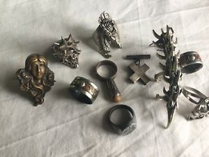 Jewellery Rings Bits And Bobs Job Lot / Faulty Some Broke