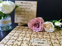 Personalised Wooden Wedding Guest Book Jigsaw Puzzle Keepsake Anniversary