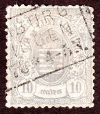 Luxembourg 33b 10c Lilac  Used Luxembourg Print