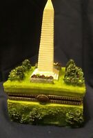 Washington Monument Trinket Resin Box w/ Latch and Statue of Liberty Trinket USA