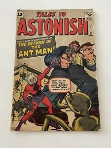 TALES TO ASTONISH #35 1ST ANT-MAN IN COSTUME MARVEL COMICS See Pictures