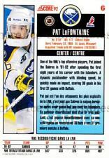1992-93 Score Promos Samples Canadian #6 Pat LaFontaine