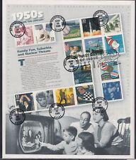 Scott 3187 Pane of 15 FDC - Celebrate the Century, 1950s