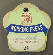 1951 CHICAGO DOWNS Working Press SEASON Ticket Book horse racing