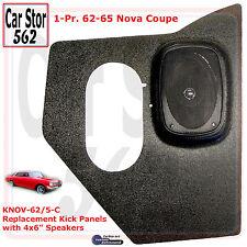 "Custom Autosound KNOV-62/5-COM Kick Panels&4x6"" Speaker 62-65 Chevy Nova Coupe"