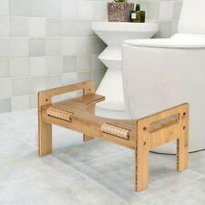 Home Adjustable Bamboo Squatting Toilet Stool Portable Bathroom Squatting Urinal