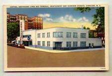 Central Greyhound Bus Terminal Montgomery & Harrison Sts Syracuse NEW YORK *LIN*