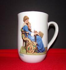 "Norman Rockwell Museum Porcelain Mug: 1982: ""Bedtime"": Free Shipping"