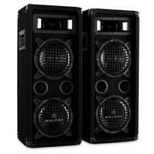 (B-WARE) 1200W SOUNDSYSTEM 2xBASS HIFI STEREO DJ PA LAUTSPRECHER 3 WEGE BOXEN