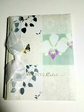 CR Gibson Wedding Memories Journal Memory Book White Green Orchid New