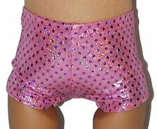 """SPARKLE PINK BOY SHORTS - Dance/Cheer - Clothes Fits 18"""" American Girl Dolls"""