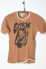 "Rare vintage ""Edgar Winter"" 2 label's T-shirt 1970's, taupe with contrast trim"