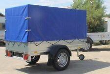 Hochplane für Stema Pkw-Anhänger - F 750 DBL 750 850 blau - Baumarktanhänger