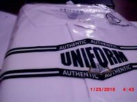 Men's/Women  Uniform White Polo Shirts Authentic Long Sleeve  Cotton Blend, XL