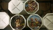 """Hummel """"Little Companions"""" Danbury Mint Collector Plates -Lot of 3 New with Coa"""