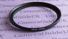 62mm to 67mm Stepping Step Up Filter Ring Adapter 62mm-67mm UK
