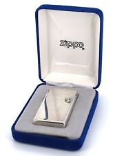 New Zippo SLIM 1996 Sterling silver Mechero Encendedor Lighter Accendino Vintage
