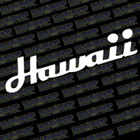 Hawaii Hawaiian Vinyl Sticker Decal Design Ocean Aloha Beach Car Truck