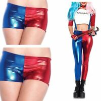 WOMENS HALLOWEEN SUICIDE SQUAD PARTY HARLEY QUINN COSTUME SHORTS LEGGING