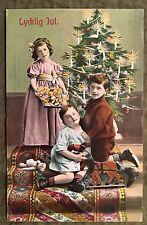 Zr717 Germany Lycklig Jul Children Toys Candle Tree Christmas Tree Vintage Pc