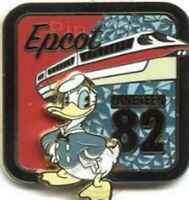Disney Pin 48004 WDW Epcot Retro Opening Donald Duck 1982 Red Monorail 2-D