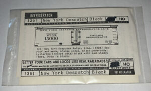 WALTHERS HO SCALE DECAL-NEW YORK CENTRAL NYC DESPATCH REEFER RED/BLK #934-1361