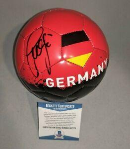 BASTIAN SCHWEINSTEIGER signed autographed GERMANY MINI SOCCER BALL BECKETT COA🎁