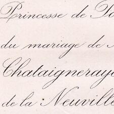 Renaud De La Chataigneraye 1871 Jeanne De La Neuville