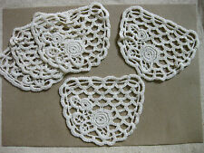 A8 cream rose flower cotton pocket sewing lace patch 8x10 cm, 2 pieces