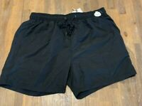 Mens  size L Black Swim shorts boardies elastic waist  board shorts RIVERS NEW