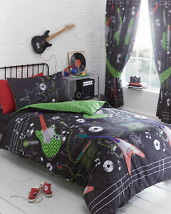 Kids Club - Guitar Rock Music Kids Teenager Duvet Cover Bedding Set OR Curtains