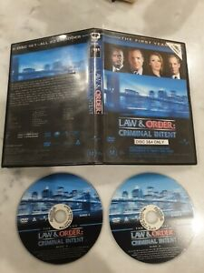 Law & Order Criminal Intent first year disc 3 and 4 only FREE POST see more