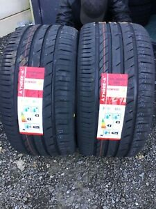 NEW 2 X 275 35 ZR19 100Y M+S THREE A ECOWINGED NEW TYRES AMAZING WET GRIP B NEW