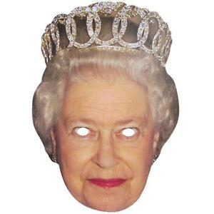Queen Elizabeth Face Mask Celebrity Popular Royal Fancy Dress Hen Party Fun