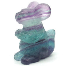 """2"""" Squirrel Figurine Natural Gemstone Fluorite Crystal Healing Reiki Decor 2304"""