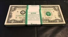 2003 $2 New Two Dollar Bills Sequential Uncirculated BEP Pack Minneapolis
