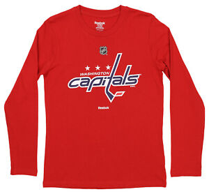 Reebok NHL Youth (8-20) Washington Capitals Long Sleeve Team Logo Shirt