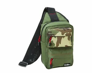 Cookies SF Rack Pack Over-The-Shoulder Smell Proof Sling Bag - Olive/Camo