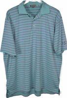 Peter Millar Summer Comfort Polo Golf Shirt Sz XL Short Sleeve Mint Green Pink